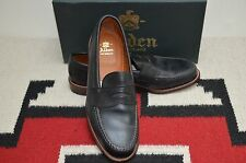 Alden Made in USA Black Leather Calf Penny Loafer