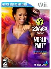 Zumba Fitness World Party Bundle (Nintendo Wii, 2013) Includes  Belt & Bonus DVD
