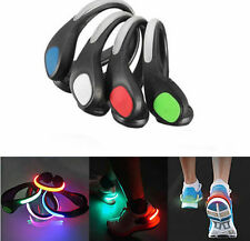 LED Luminous Night  Cycling  Safety Warning  Clip Light Running Sports Shoe