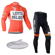 Mens Classic Cycling Uniforms Thermal Fleece Jersey Pants Shirt Tights Kits