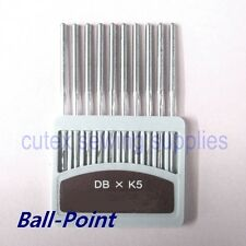 10 Orange Ball-Point DBXK5 Large Eye Commercial Embroidery Machine Needles