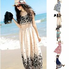 Fashion Women Summer Boho Long Maxi Dress Evening Club  Beach Chiffon Sexy Dress