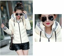New Womens coats Slim Down Cotton Warm Short Coat Hooded Jacket Coat