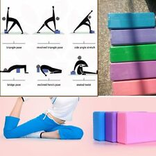 Hot Yoga Block Foam Brick Stretching Aid Gym Pilates For Exercise Fitness LN
