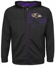 Baltimore Ravens NFL Mens Majestic Coverage Sack Hoodie Black Big & Tall Sizes