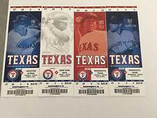 2011 Full Tickets Texas Rangers YOU PICK ONE GAME Kinsler Young Hamilton Beltre