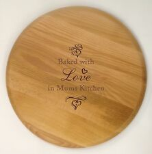 PERSONALISED CHOPPING BOARD BAKED WITH LOVE MOTHER'S DAY BIRTHDAY CHRISTMAS GIFT