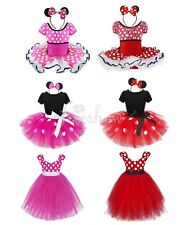Girl Minnie Mouse Cosplay Tutu Dress Halloween Party Fancy Costume Ballet 12M-10