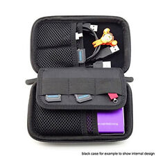 Portable Digital Hard Drive Organizer Storage Carrying Case Bag Pouch 3 Colors