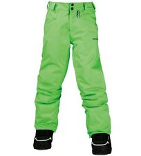 Volcom Battlefield Insulated Boys Pant - ELECTRIC GREEN - 2015 NEW, Orig $140