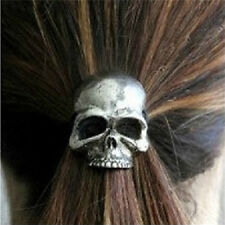 Hot Punk Skull Hair Tie Cuff Wrap Ponytail Holder Hair Band Rope Accessories US9
