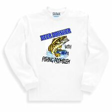 Long Sleeve T-shirt Adult Youth Beer Drinker With A Fishing Problem