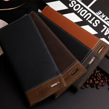 New Mens Bifold Leather Credit/ID Card Holder Slim Fold Long Wallet Clutch Purse