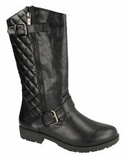 LADIES MID CALF ZIP UP BOOTS (SPOT ON F50311