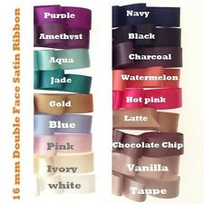 15mm x 25Yards(22M)Double Side(faced) Satin Ribbon for  invitation&Hair bows.