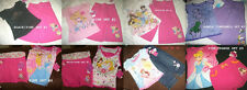 * NWT NEW GIRLS 2PC DISNEY PRINCESS SHIRT CAPRIS SUMMER OUTFIT SET