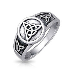 Bling Jewelry Sterling Silver Triquetra Celtic Knot Ring