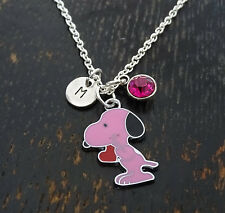 Snoopy Necklace, Snoopy Charm, Charlie Brown Jewelry, Snoopy Gift, PERSONALIZED
