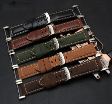 Genuine Leather Watch Band Strap Bracelet + Lugs Adapters For Suunto Core lot