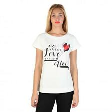 Love Moschino Clothing Women T-shirts White 74761 Deal BDX