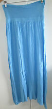 Ladies Supre Pale Blue Long Skirt Size S Pull On 74cms Around Waist