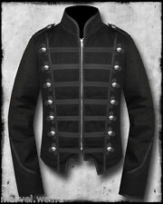 Men's Handmade  Black Military Marching Band Drummer Jacket New Style