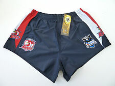 "NRL SYDNEY ROOSTERS AWAY ""TELSTRA LOGO"" SUPPORTER SHORTS - BRAND NEW"