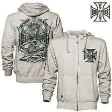 West Coast Choppers Zip Hoody Cash Only Biker Cardigan Jumper S to 4XL NEW