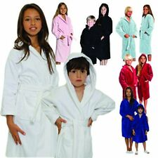 New Luxury KIDS VELOUR HOODED BATHROBE-100% COTTON IN,VELOUR