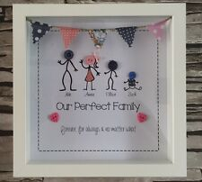 Personalised Button Family Picture With Frame Ideal Xmas Gift Popular