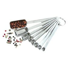 Norpro 3063 8-Piece Stainless Steel Measuring Spoon Set Metallic New