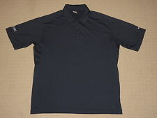 Mens Nike Fit Dry Short Sleeve SS Golf Polo Shirt Large Blue Tennis Polyester
