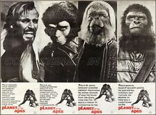 """PLANET OF THE APES 1968 = Taylor ZIRA Zaius MARCUS =30"""" POSTER = Only Found Here"""