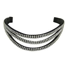 NEW Triple Wave BLING BROWBAND - Clear Crystals - PONY COB FULL WB - Free P&P!