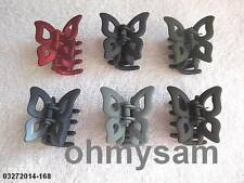 NEW MULTI COLOR PLASTIC HAIR CLIP BUTTERFLY DESIGN KOREAN MADE NICKEL/LEAD FREE