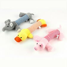 NEW Pet Puppy Chew Squeaker Squeaky Plush Sound Pig Elephant Duck For Dog Toys