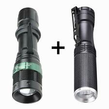 2PC 3000 Lumen Zoomable CREE Chips XM-L Q5 LED Flashlight Adjustable Focus Torch