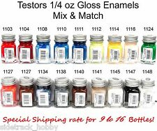 Testors Gloss Enamel 1/4 oz Paint Bottles Mix & Match Variety