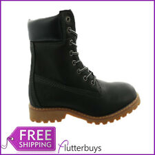 Womens Black Work Boots Hiking Walking Rambling Boots Lace up New Ladies Sizes