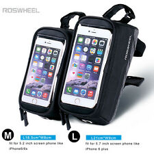 Touchscreen Bike Bicycle Cycling Mobile Phone Bag Pannier Pouch Front Tube Frame