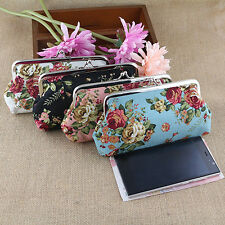 Women's Coin Purse Money Bag Case Wallet Keys Card Pouch Big Flower Hasp Nobby