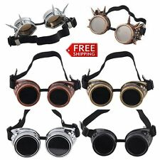 Cyber Goggles Steampunk Glasses Vintage Welding Punk Gothic Victorian LOT #AA