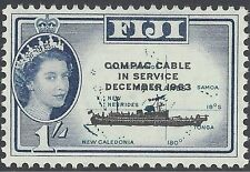 FIJI 1963 COMPAC CABLE OVERPRINT (SHIP, MAP) (1) Unhinged Mint SG335