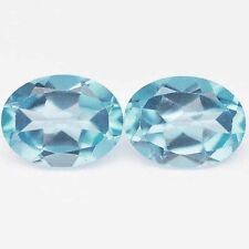 4.20 CTS PERFECT LOOKING OVAL SHAPE BLUE TOPAZ CHECKER CUT LOOSE GEMSTONE PAIR