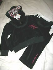 NWT NEW GIRLS 2PC CALVIN KLEIN Velour WINTER SWEATER OUTFIT SET 12M 18M