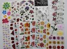 Mrs. Grossman sticker sheet You Choose - flowers floral garden spring