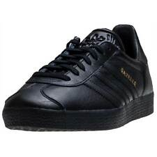 adidas Gazelle Mens Black Gold Trainers New Shoes