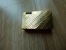 Vintage Collectable Gold W Flame Valiant GAS CIGARETTE LIGHTER Japan Smoking Old