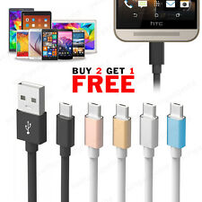 Metal Braided Micro USB Fast Data Sync Charging Cable for HTC One M7 M8 M9 A9