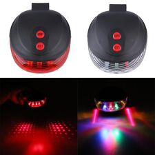 Cycling Bicycle Bike LED Laser Back Seat Rear Lamp Taillight Warning Light+Mount